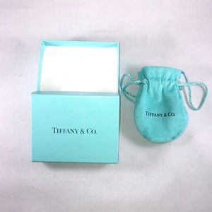 TIFFANY & CO. EMPTY Gift Box & Suede Pouch